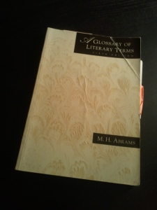 A Glossary of Literary Terms by M. H. Abrams