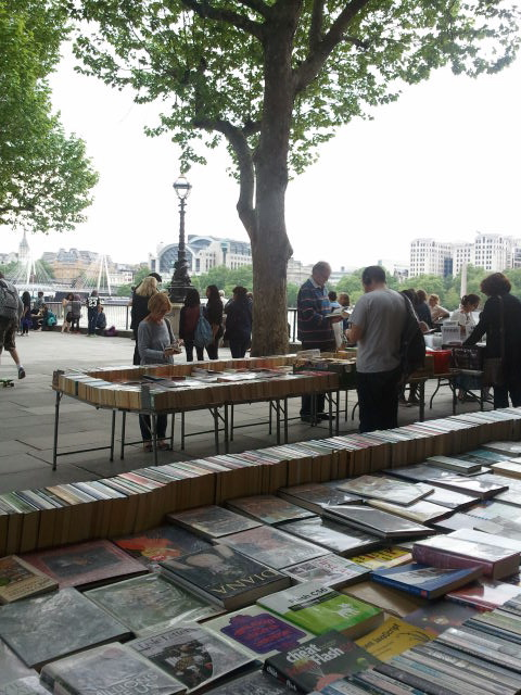 another view of the Southbank Centre Book Market