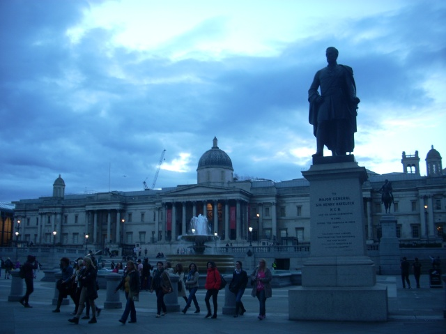 The National Gallery seen from Trafalgar Square