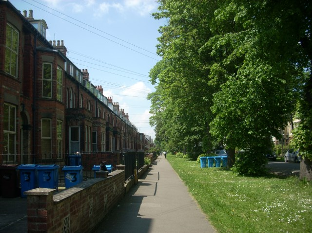 walking around the area surrounding the city centre